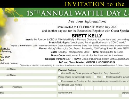 Wattle Day Luncheon 2020