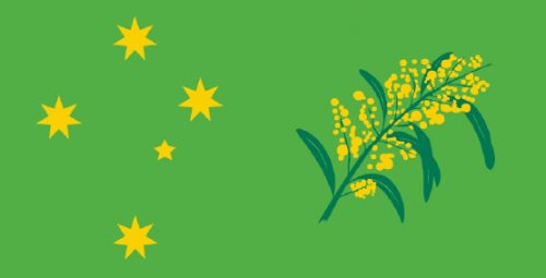 Wattle Day Flag Product