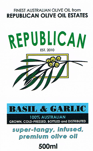 Olive Oil Estate Basil and Garlic