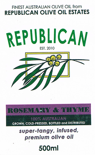 Olive Oil Estate Rosemary and Thyme