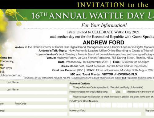 Wattle Day Luncheon 2021