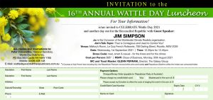RPA Wattle Day Luncheon Invite 2021 - Guest Speaker Jim Simpson