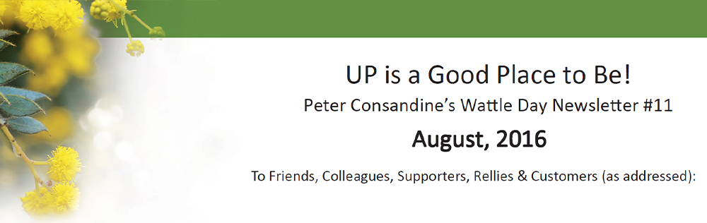 UP is a Good Place to Be Wattle Day Newsletter #11